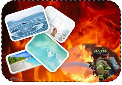 yangın, su, fotoğraf, itfaiyeci