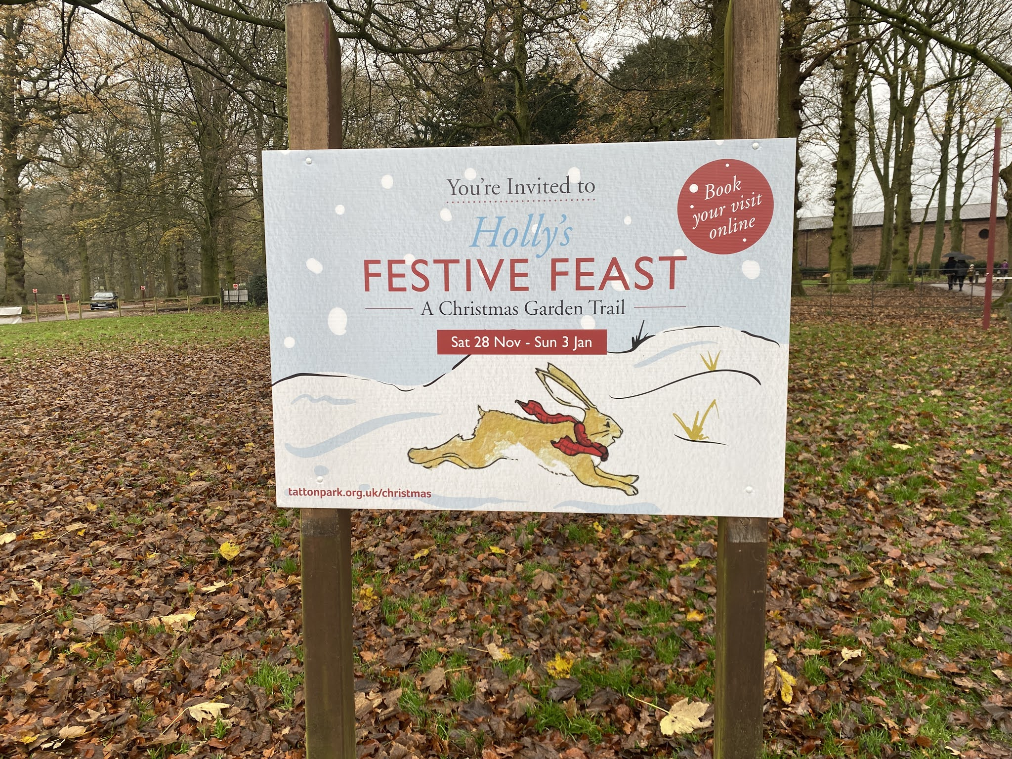holly's festive feast sign