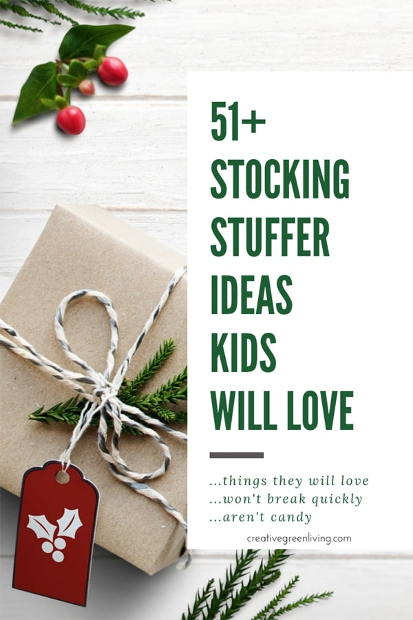 The best stocking stuffers to give your kids for Christmas! There are tons of good ideas in this post for both boys and girls. Any elementary age children will love these fun ideas and products suggestions that are family friendly for the holidays. #creativegreenchristmas #creativegreenliving #stockingstuffers #giftideas #christmasgifts #stockings #stockingstufferideas