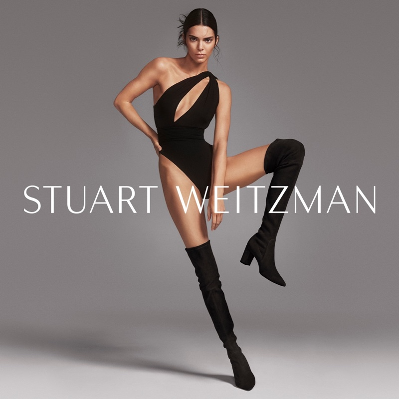 Kendall Jenner models Stuart Weitzman Lesley boots in fall-winter 2019 campaign