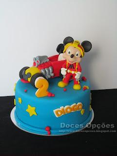 Bolo de aniversário Mickey e os Super Pilotos
