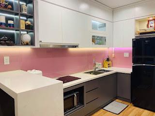 nhà bếp căn hộ 3 phòng ngủ viva riverside quận 6