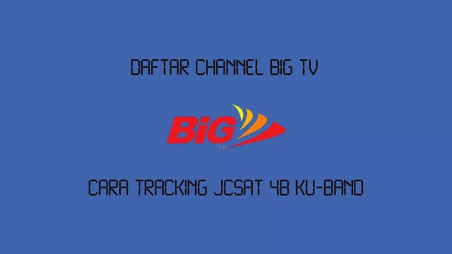 Daftar Channel BiG TV di JCSAT 4B