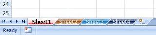Hasil cara 2 memberi warna sheet