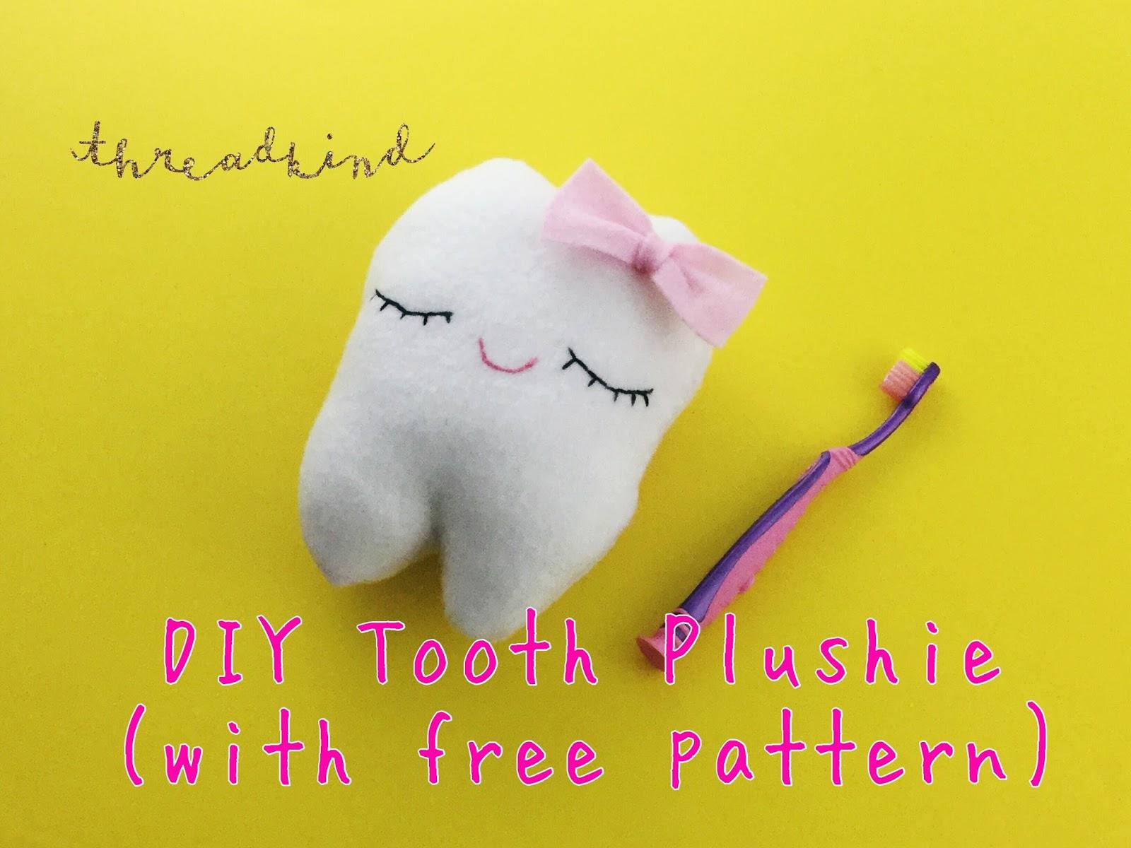 diy tooth plushie