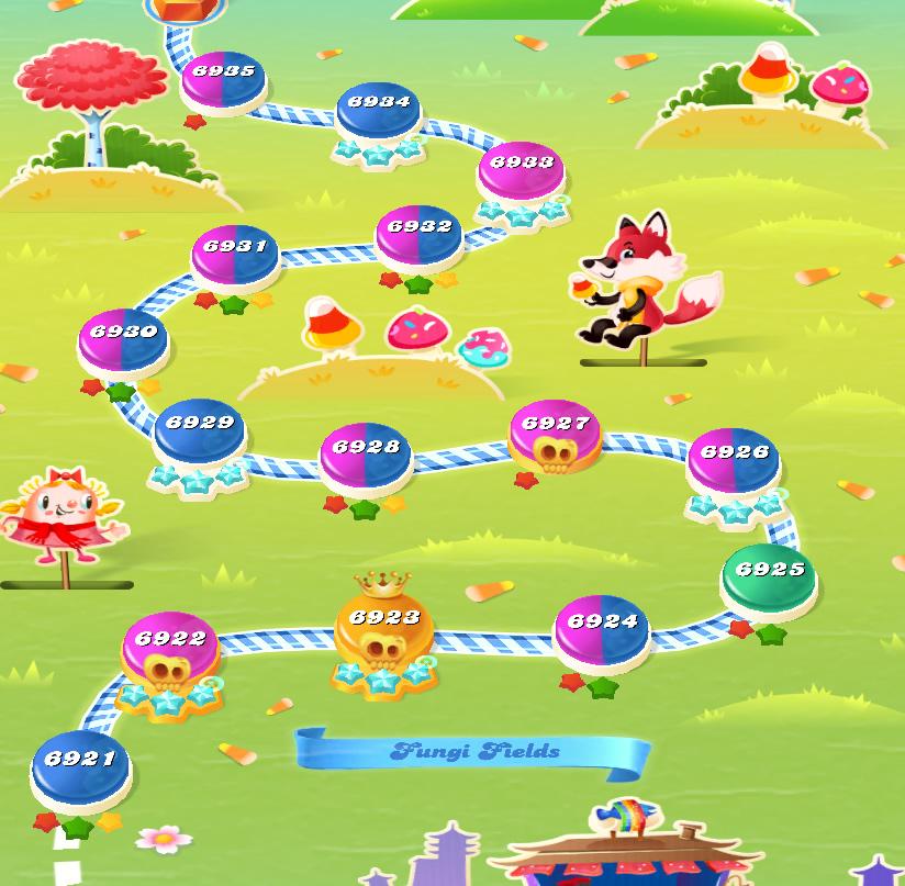 Candy Crush Saga level 6921-6935