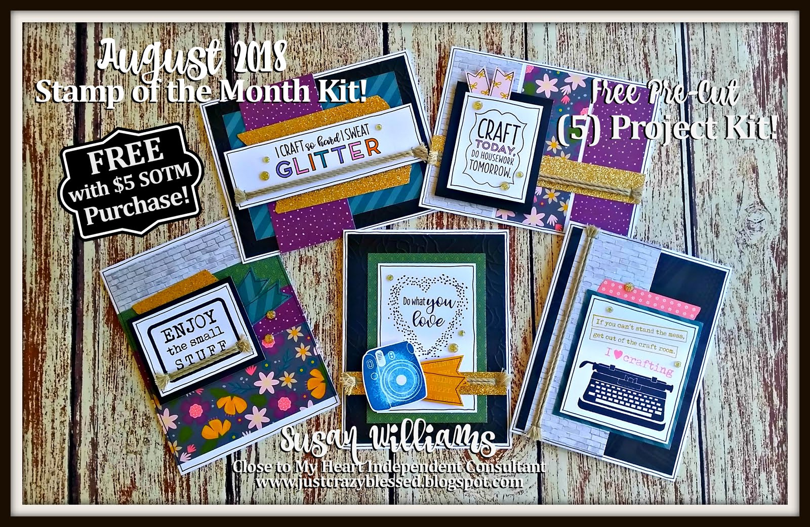 August 2018 Stamp of the Month Workshop!