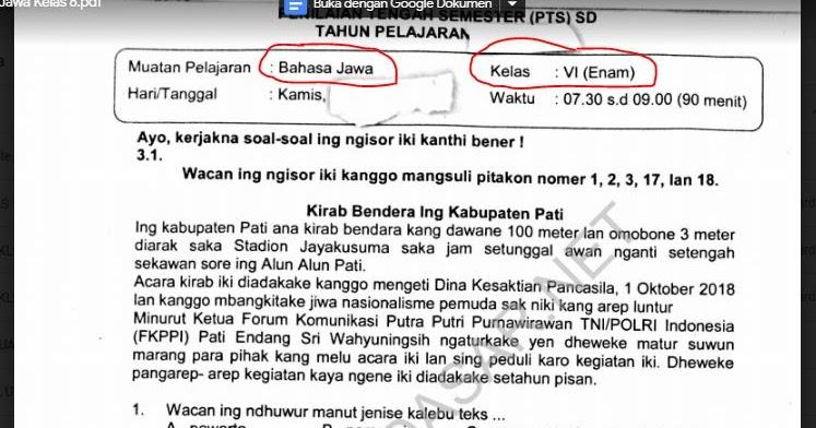 Soal Usbn Bahasa Jawa Sma 2019 Guru Ilmu Sosial