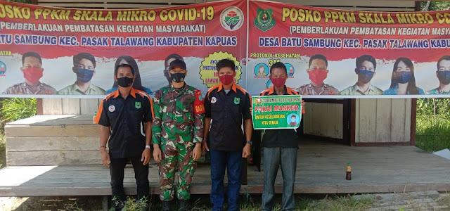 Koramil 1011-10/Kapuas Tengah Laksanakan Monitoring Perkembangan Satgas Desa Tangkal Covid-19