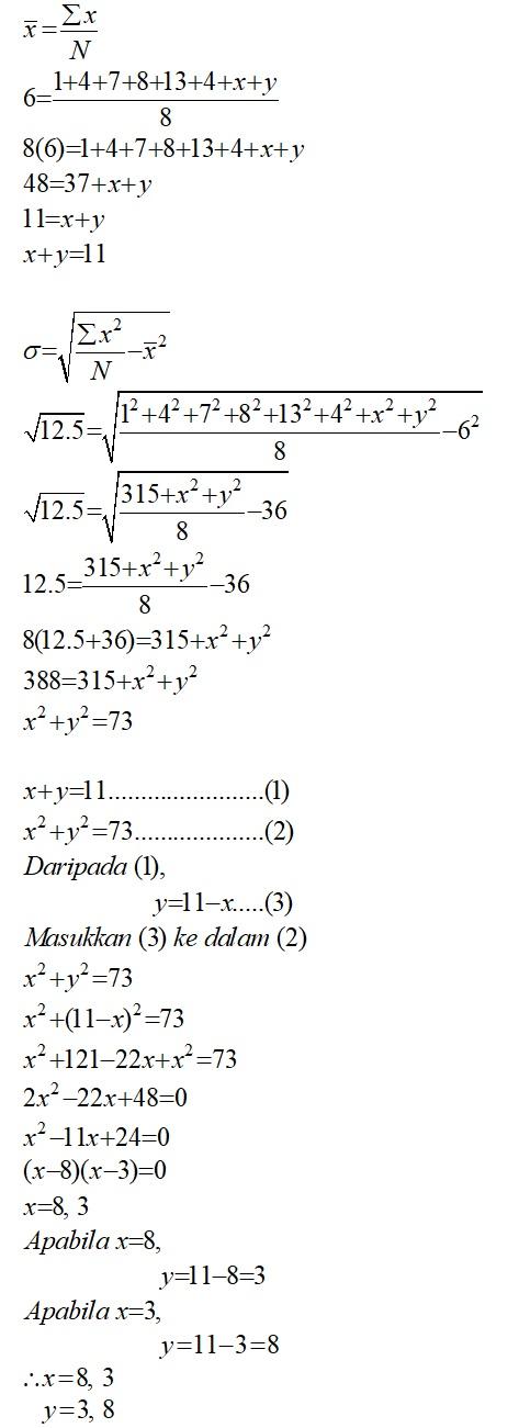 Matematik Tambahan Statistik