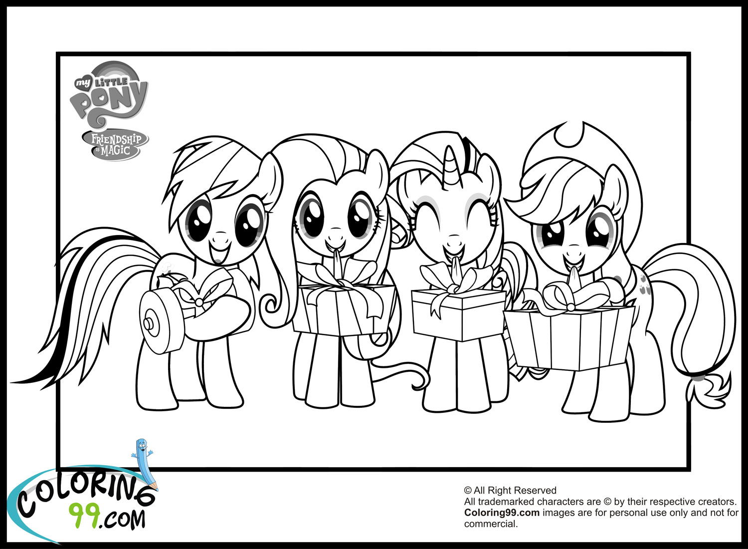 My Little Pony Friendship Is Magic Coloring Pages Rarity