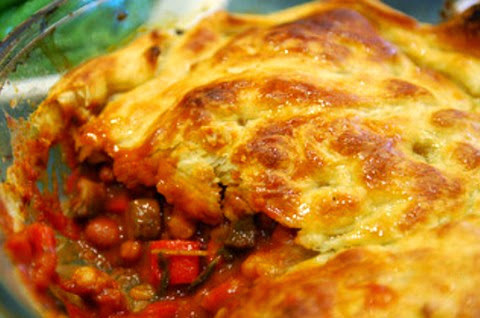 Buttery Beans, Carrots and Mushroom Pie