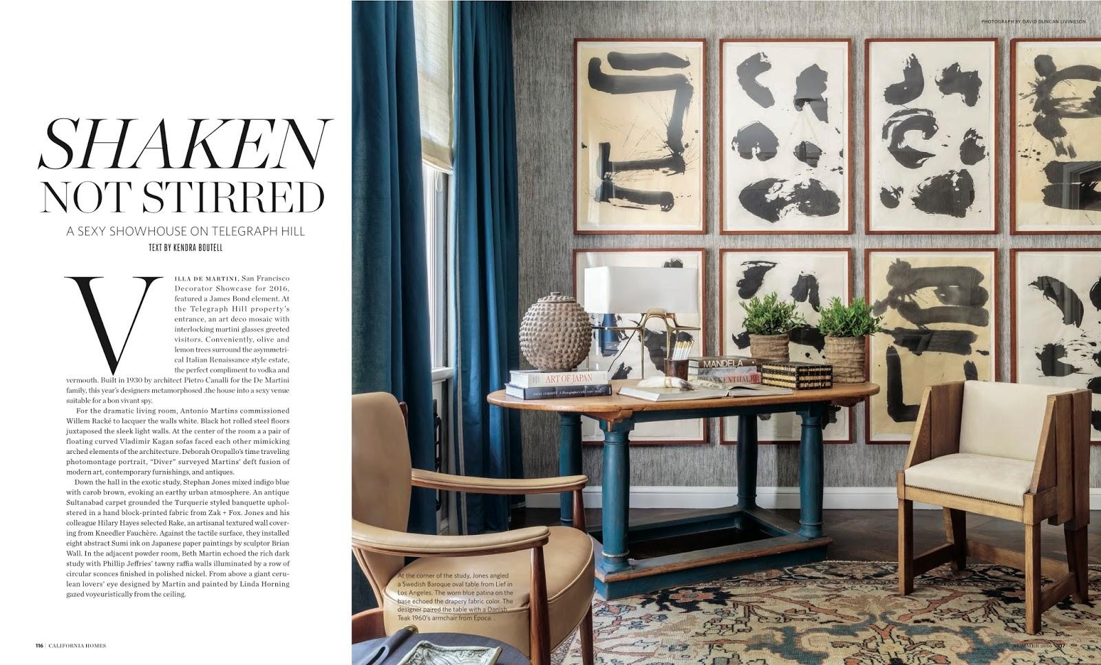 Shaken Not Stirred California Homes Magazine Spring 2016
