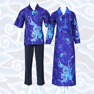 model baju batik couple anak muda modern