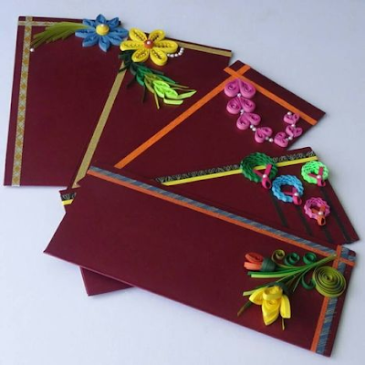 Multi mode quilling paper envelope designs and model - quillingpaperdesigns