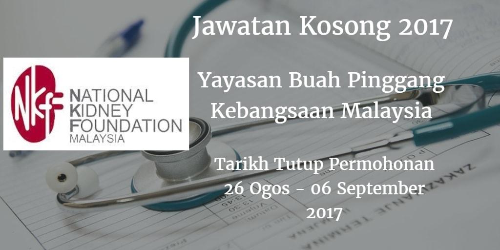 Jawatan Kosong NKF 26 Ogos - 06 September 2017