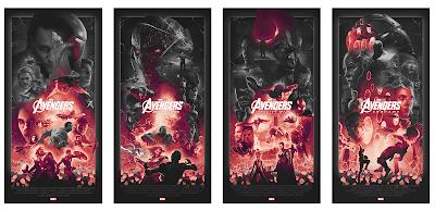 NYCC 2021 Exclusive The Avengers Infinity Saga Screen Print Series by John Guydo x Bottleneck Gallery