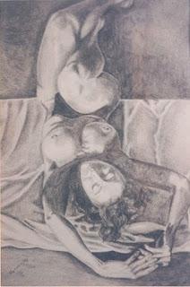 Desnudo femenino pintor Jorge A. Marín