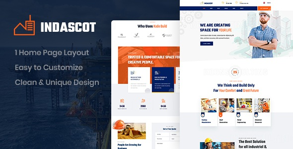 Best Industrial PSD Template