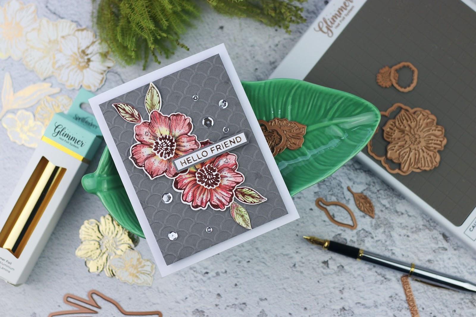 Radiant Flower | Spellbinders Glimmer Hot Foil Kit of the
