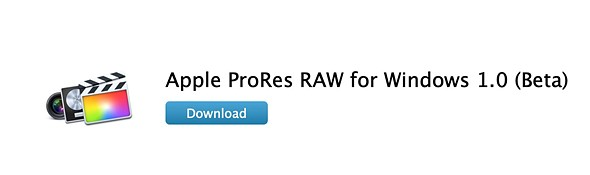 Apple Releases ProRes RAW Beta For Windows, Supporting Adobe Applications