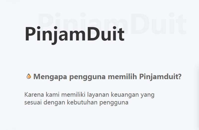 Pinjaman Online Pinjam Duit (pinjamduit.co.id)