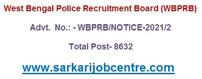 Apply 8632 West Bengal Police, Lady Police Constable & SI