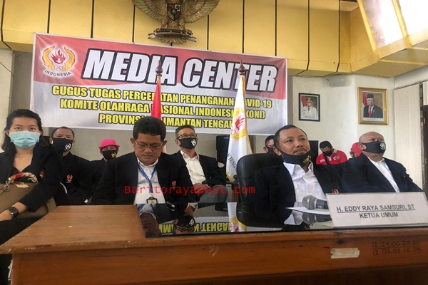 KONI Kalteng Hadiri Rakor KONI se Indonesia Secara Virtual