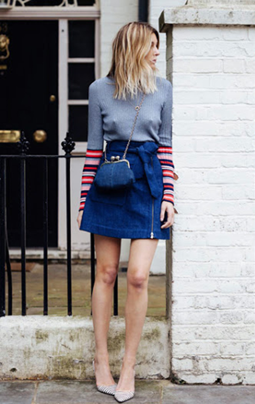 denim maxi skirt, long denim skirt, denim skirts, denim mini skirt, vintage levis denim mini, levis 501 , spring 2016 denim trends, street style, patchwork denim, patchwork skirt, camille cherriere
