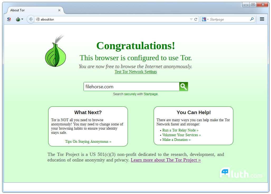 Tor Browser - Anonymous web browsing