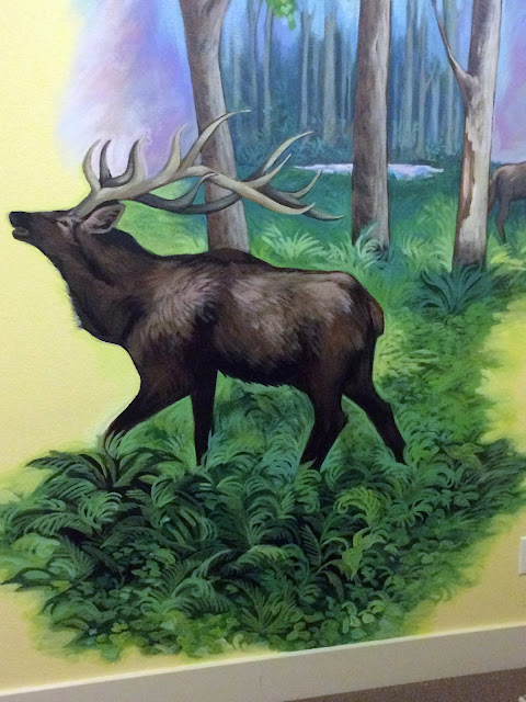 elk mural,hunting mural, pacific northwest mural, deer mural, portland mural, portland muralist