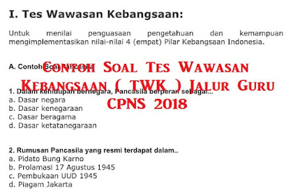 Prediksi Soal Tes Wawasan Kebangsaan ( TWK ) Jalur Guru CPNS 2021
