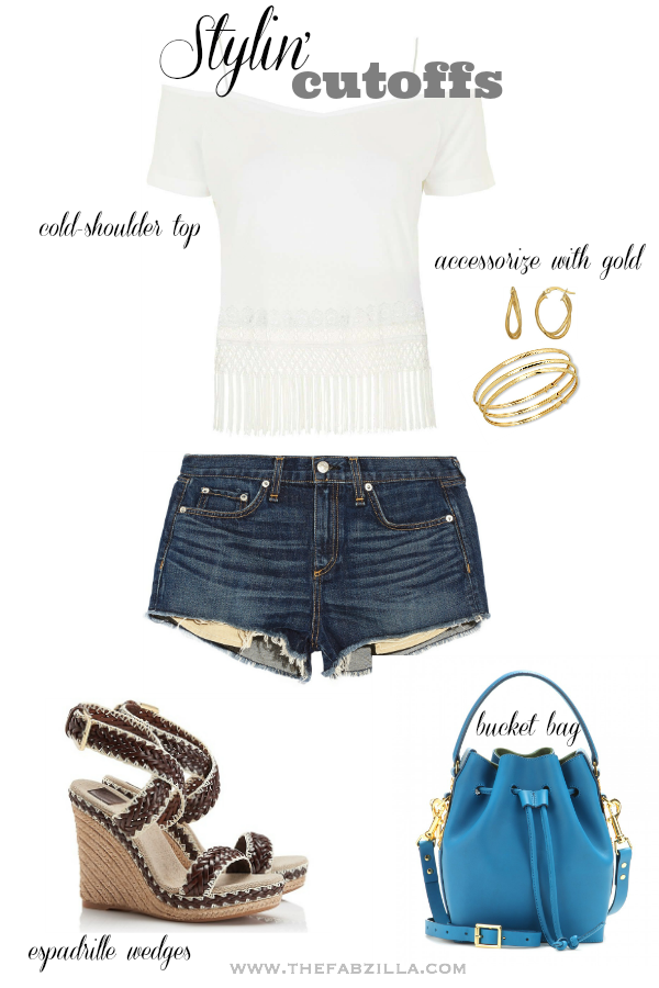 how to style cutoffs, how to style cropped denim shorts, how to style trucker shorts