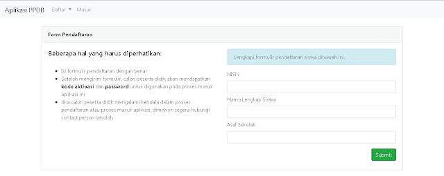 Aplikasi PPDB Berbasis Web Part 2 - Konten Form Pendaftaran