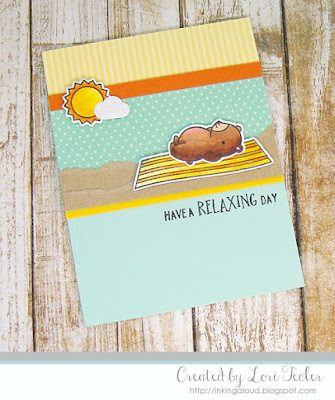 Have a Relaxing Day card-designed by Lori Tecler/Inking Aloud-stamps and dies from Lawn Fawn