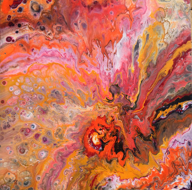Maru Prats arte abstracto acrílico lienzo krakatoa