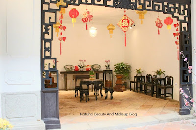 Casa Do Mandarim or Mandarin's House interiors, Chinese New Year Decoration, Historical exhibits