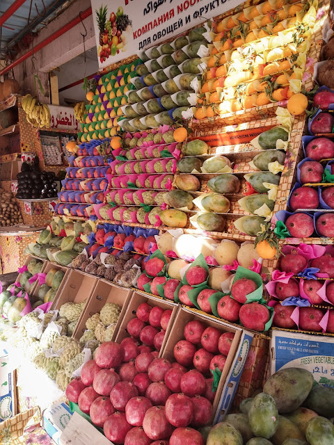 Not even a fruit market was easy to navigate, price-wise, Egypt
