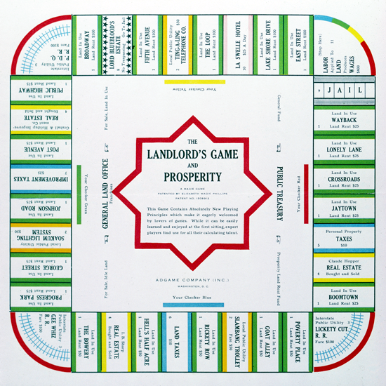 The Landlord's Game and Prosperity 1932
