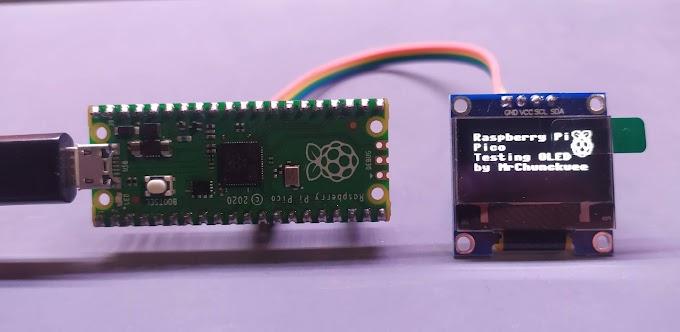 Raspberry Pi Pico: Uso de pantalla OLED SSD1306 de 128x64