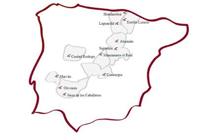 Red de villas y ciudades Medievales