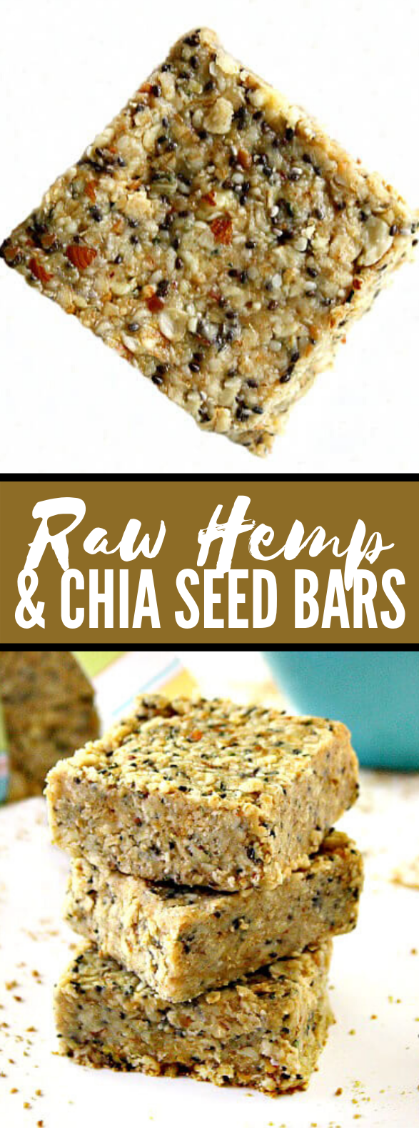 Raw Hemp and Chia Seed Bars #breakfast #healthy