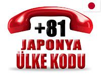 +81 Japonya ülke telefon kodu