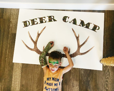 Deer Camp Party with Silhouette