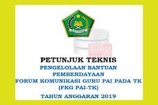Juknis Bantuan Pemberdayaan FKG (Forum Komunikasi Guru) PAI TK Tahun 2019-2020