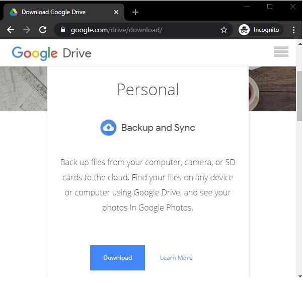 Add Google Drive service to Windows File Explorer?