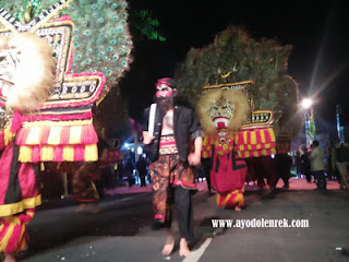 Penampilan Reog Ponorogo di Malang Night Culture and Art 2018