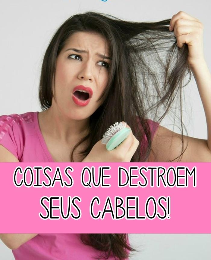 Coisas que destroem seus cabelos