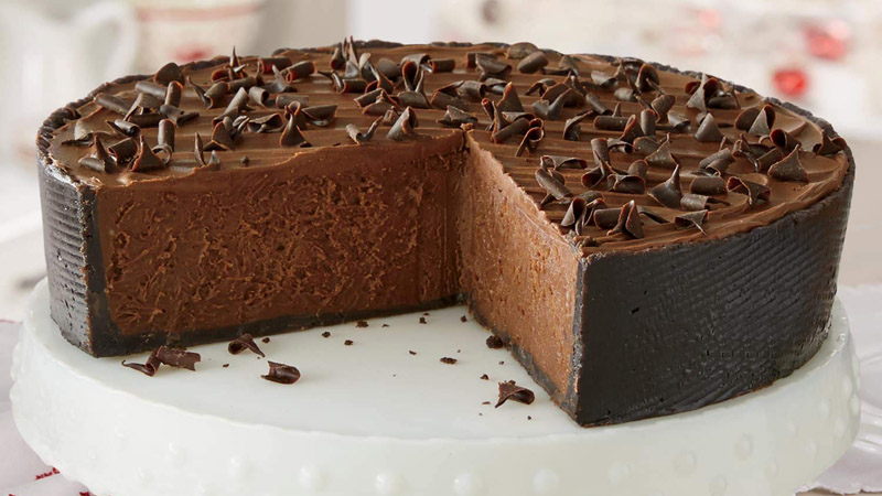 Rich Chocolate Mousse Cheesecake