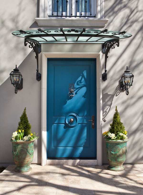 front door painted with benjamin moore americana